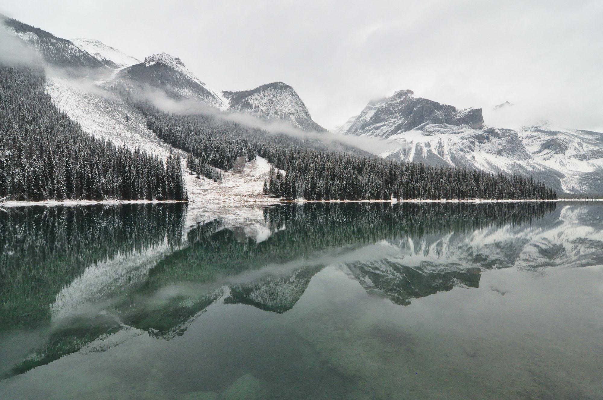 Emerald Lake in Yoho National Park, British Columbia Canada. Taken by Canadian photographer Matt Jenkins